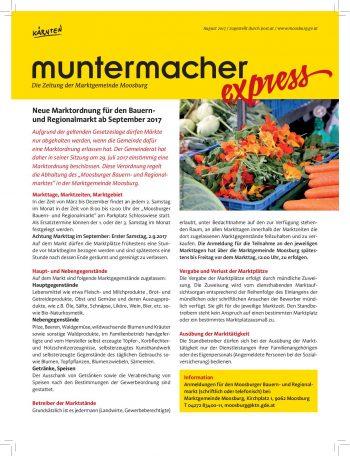 Muntermacher Express, August 2017