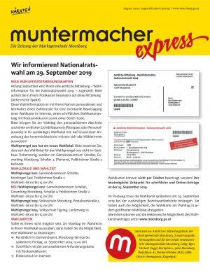 Muntermacher Express August 2019